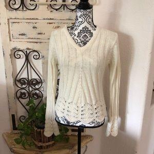 BCBG maxazria wool blend knit sweater